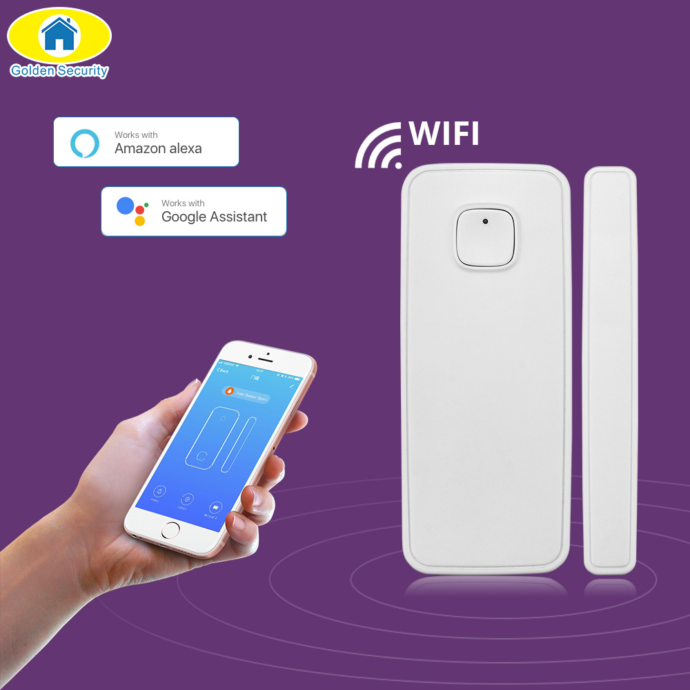 WIFI Door Sensor APP Control Door Security Alarm Magnetic Switch Wireless Window Door Opening Sensor Compatible With Alexa