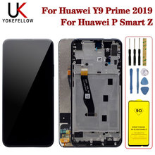 For Huawei P Smart Z LCD Display + Frame Screen Touch Digitizer Assembly LCD Display Repair Parts for Huawei Y9 Prime 2019 LCD 6 21original display for huawei p smart 2019 lcd display screen touch digitizer assembly p smart 2019 display repair parts tool