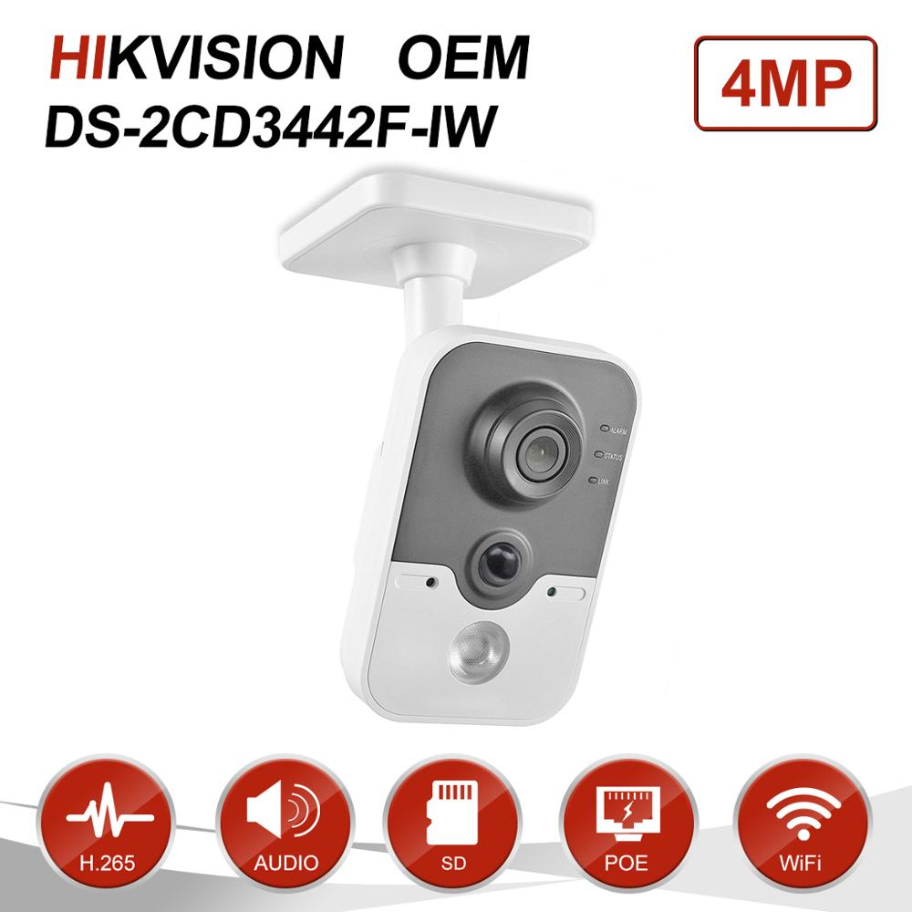 Hikvision OEM 4MP IR Cube HD Audio Microphone Wifi IP Camera Onvif Home Security Surveillance Without Logo DS-2CD3442F-IW