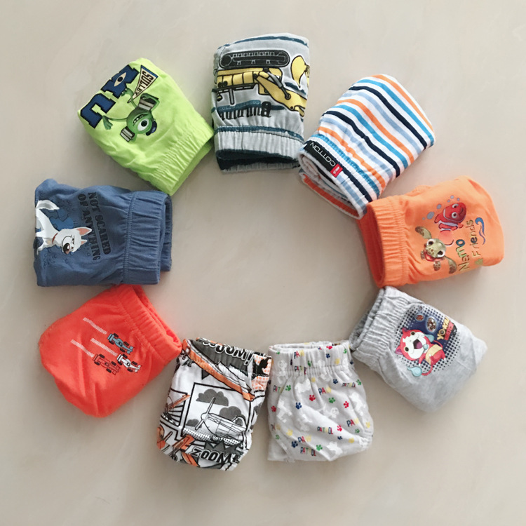 1/pcs Boy's Briefs Cartoon Children's Underwear Small Medium Kids Underwear Breathable Sweat-absorbent Baby Underwear