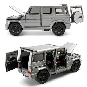 1:24 Alloy Car Model Collective Big G65 Toy Car (M929Y-6) New Vesion Matte Black / White /Grey Painting Open Doors