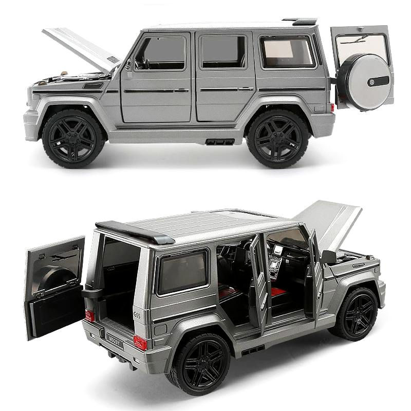 1:24 Alloy Car Model Collective Big G65 Toy Vehicle (M929Y/ M923Y)  New Vesion Matte Black / White /Grey Painting Open Doors