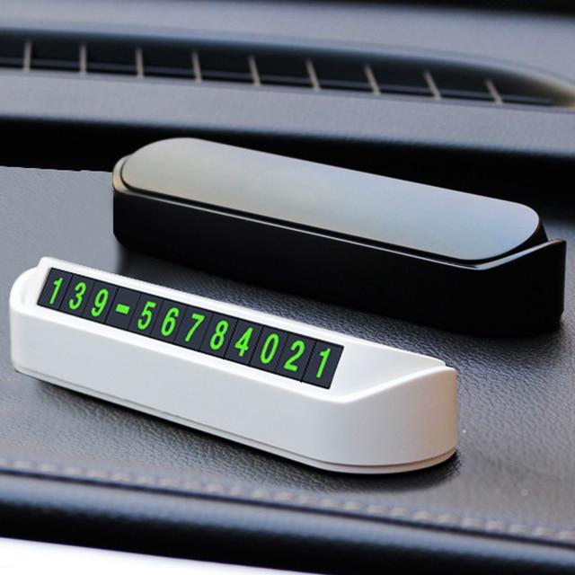 Placa de tarjetas para estacionamiento temporal de coche, placa de tarjetas de número de teléfono, número de teléfono, parada de estacionamiento, accesorios para automóviles, estilo de coche, 2 colores