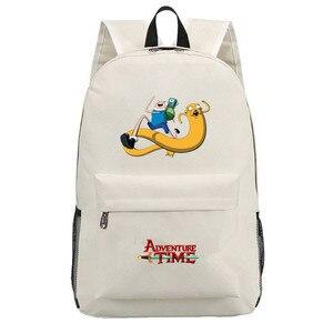 Image 2 - Adventure Time canvas backpack printing shoulder school bag travel bag knapsack Boy Girls packsack laptop bag