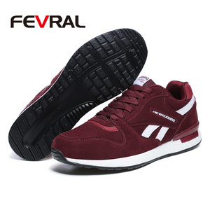 Image 4 - FEVRAL Mens Leather Sneakers Unisex Autumn Casual Trainers Breathable Outdoor Walking Shoes Light Men Winter Warm Sport Shoes