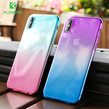 Floveme gradienケースiphone 11クリアソフトケースカバーiphone 7ケースiphone 11プロマックスxr/xs最大/x 6/6s/7/8プラスcoque