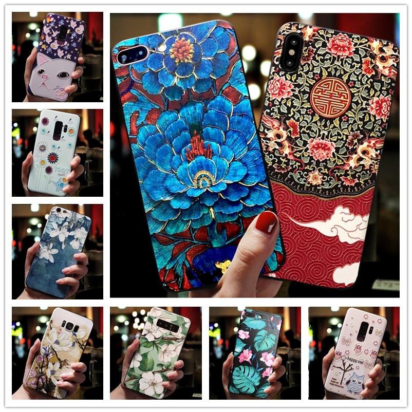 For Vivo Z1 Pro Case 3D Flower Emboss Silicone Phone Cases For Vivo V15 Pro V15Pro v11i cover soft For Vivo Z1Pro V 15 Funda