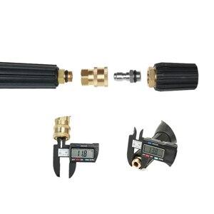 Image 5 - Hochdruck Washer Stecker 1/4 zoll quick connect buchse quick connect mit weiblichen threading M14 * 1,5 auto zubehör
