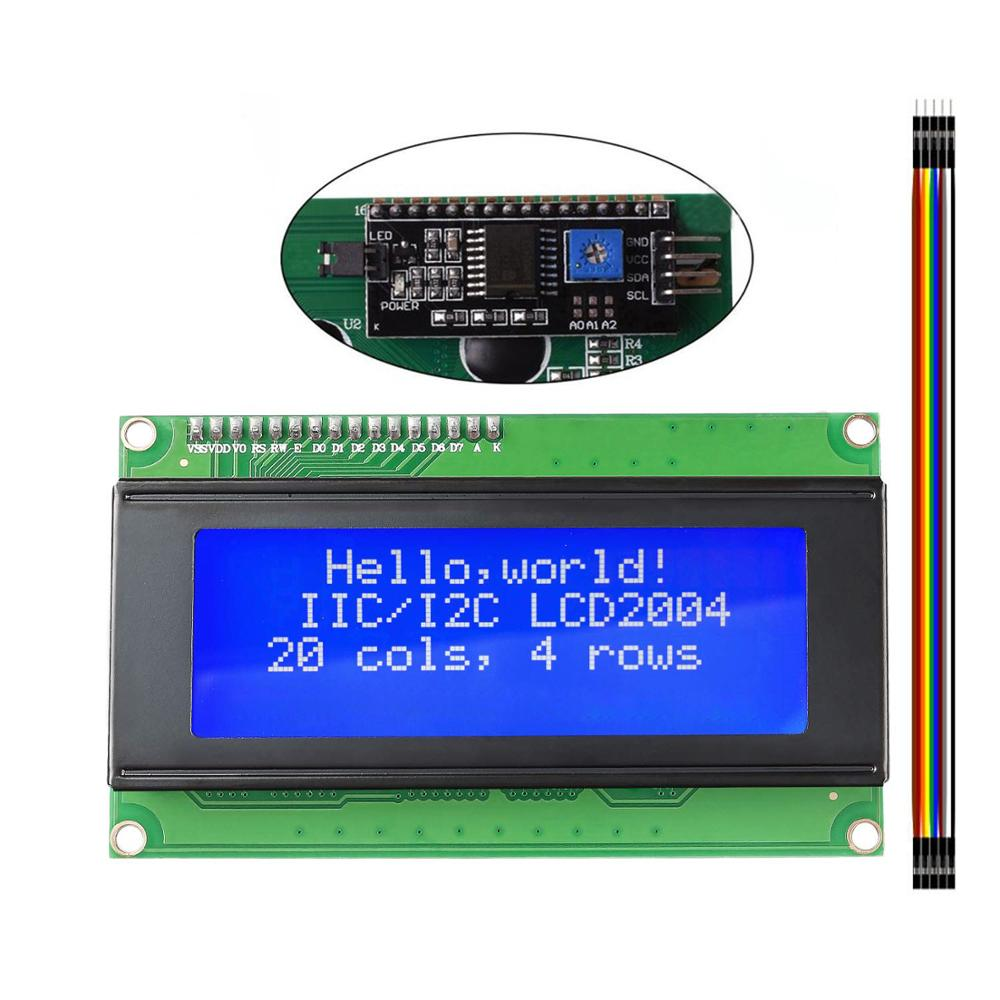 LCD2004 2004 I2C 20x4 2004A Blue Screen LCD Module IIC/I2C Serial Interface Adapter Module for <font><b>arduino</b></font> UNO MEGA2560 image