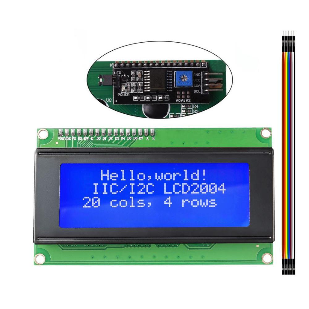LCD2004 2004 I2C 20x4 2004A Blue Screen LCD Module IIC/I2C Serial Interface Adapter Module For Arduino UNO MEGA2560