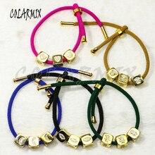 5pcs Rope Chain bracelets  cubic beads bangles charm accessories mix colors bangles bracelets jewel for women 50281