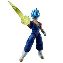 Original BANDAI Dragon ball Z DBZ ULTIMATE SOLDIERS Blue God Blue Vegetto Kit Building Model Figurals(China)