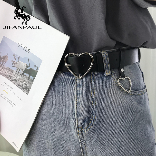 New sweetheart buckle with adjustable ladies luxury brand cute Heart-shaped thin high quality punk fashion belts 4