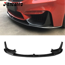 NEW Carbon Fiber Car Front Bumper Lip Chin Spoiler With Removable Side Splitter For BMW M3 F80  MP Style 2014-2019 цена и фото