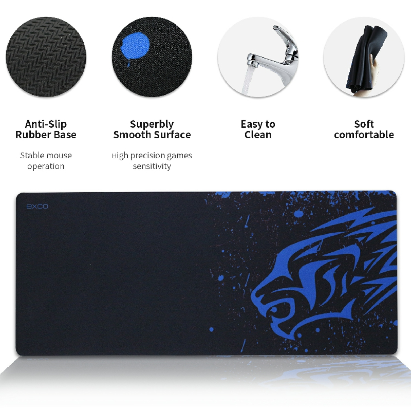 """EXCO Large Gaming Mouse Pad XL Gamer Big Mousepad Desk Pad Carpet Computer Laptop Keyboard Mouse Mat  for CS GO LOL 27.6*11.8""""-3"""