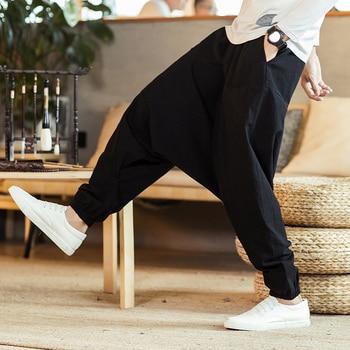 Harem Pants Men Solid Loose Casual Mens Korean Style Cotton Plus Size Sweatpants Hot Sale Male Trousers 2021 New 2