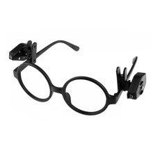 Luzes de livro interior preto luz de leitura flexível óculos e-reader luz para kindle leitura 2 pces clip-on óculos lâmpadas de luz led