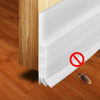 Adhesive Under Door Sweep Weather Stripping Soundproof Rubber Bottom Seal Strip