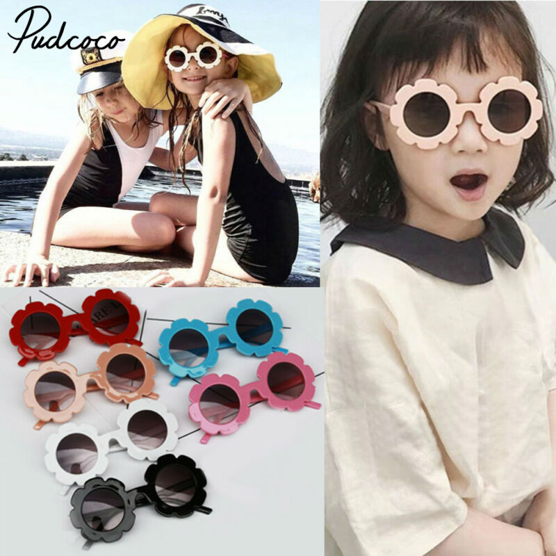 Pudcoco Toddler 2019 Summer Kids Baby Girls Beach Sunglasses Child Baby Sun Outdoor Wear Sunflower Glasses Kids Gift Drop Ship