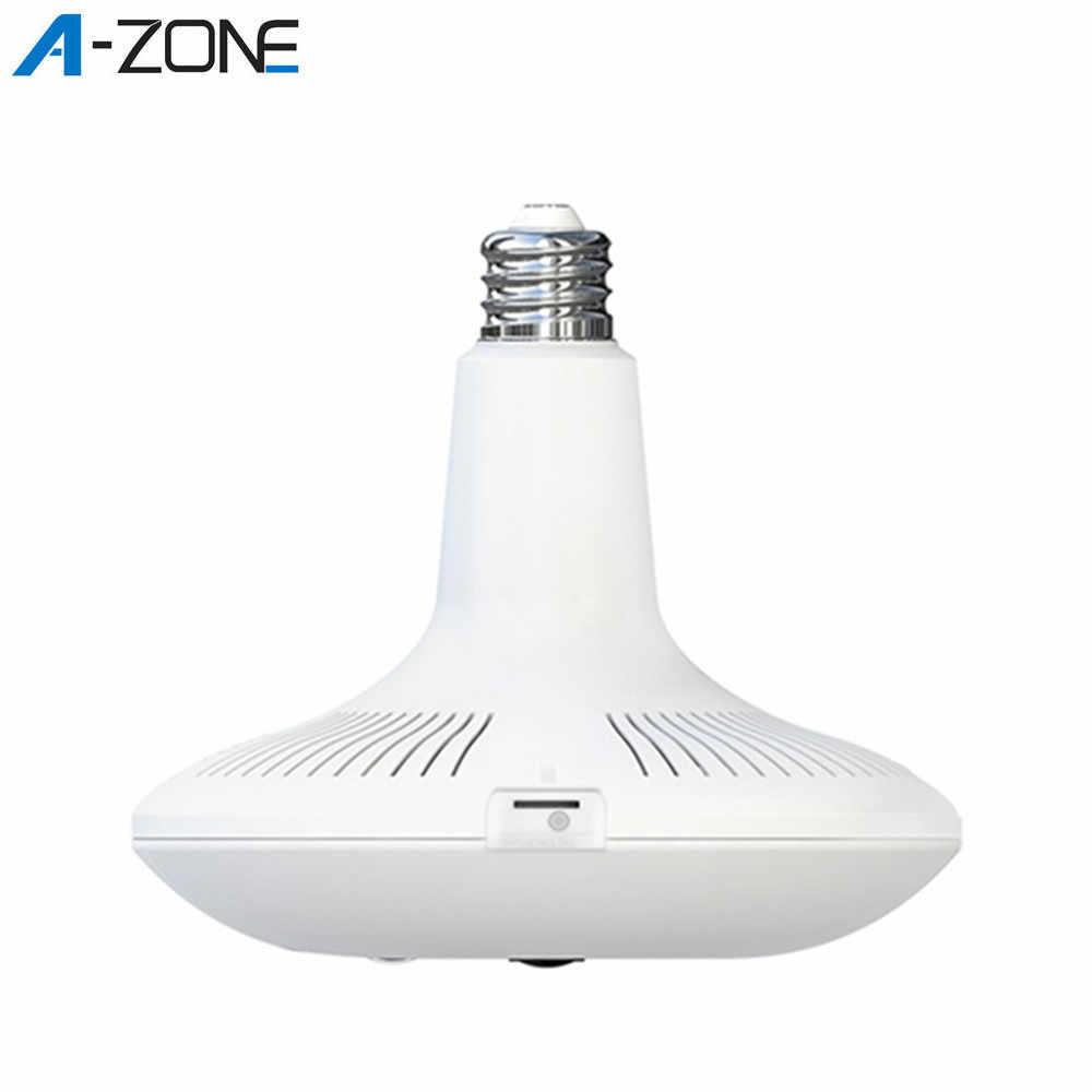 A-ZONE 360 Video Camera Nhà Bóng Wifi IP Cảm Biến Chuyển Động Phát Hiện Hồng Ngoại Nhìn Đêm Toàn Cảnh 360 Mắt Cá Đèn camera