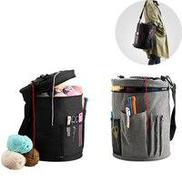 Tejer hilo de bolsa de almacenamiento para la lana ganchillo gancho tejer agujas bricolaje hogar organizador accesorios para herramientas de costura 2021