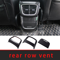 For Lincoln MKX 2015-2020 carbon fiber rear row vent frame molding trim