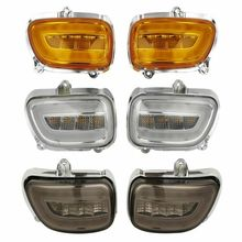 Motorcycle Front LED Turn Signals light For Honda F6B 13-17 Goldwing GL1800 2001-2017 2002 2003 2004 2005 2016 2015 new digital music cd mp3 changer player case for honda goldwing gl1800 2001 2002 2003 2004 2005 2006 07 08 09 10 2011 accessory