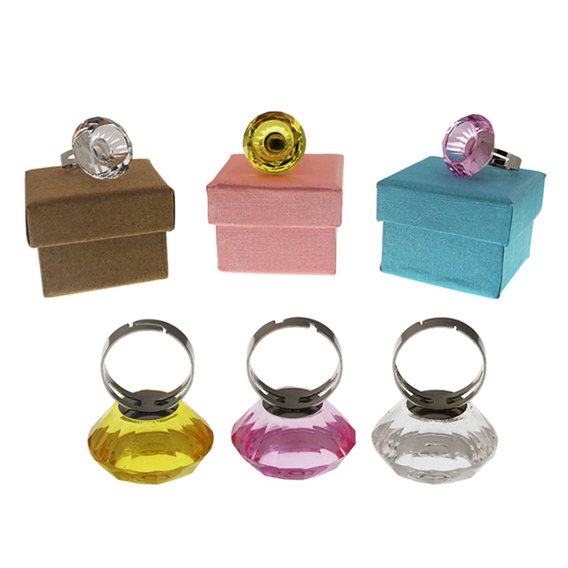 Non-disposable Crystal Tattoo Pigment Holder Eyelash Extend Ring Cup Tattoo Ink Container Eyebrow Makeup Microblading Accessory 1