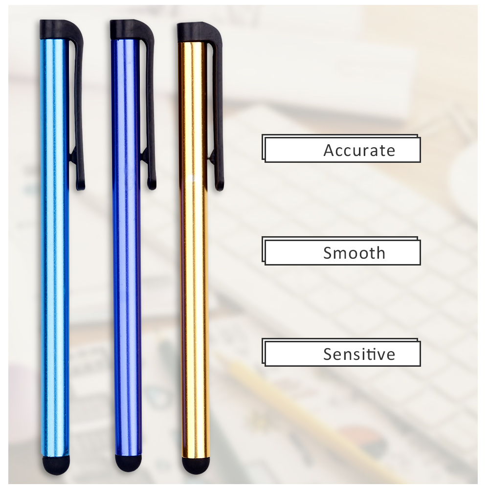 Dozen Of Capacitive Touch Screen Stylus Pen For Sumsung Smart Phone Tablet PC Computer Colorful Tablet Pen