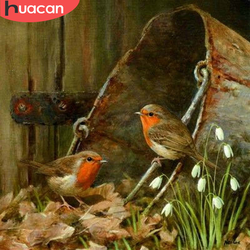 HUACAN Diamond Painting Full Square/Round Bird Diamond Embroidery Mosaic Sale Animal Decor For Home Wall Art