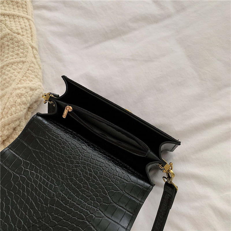 Fashion Crocodile Women's Designer Flap Handbags High Quality PU Leather Women Totes Ladies Alligator Crossbody Bags JS071