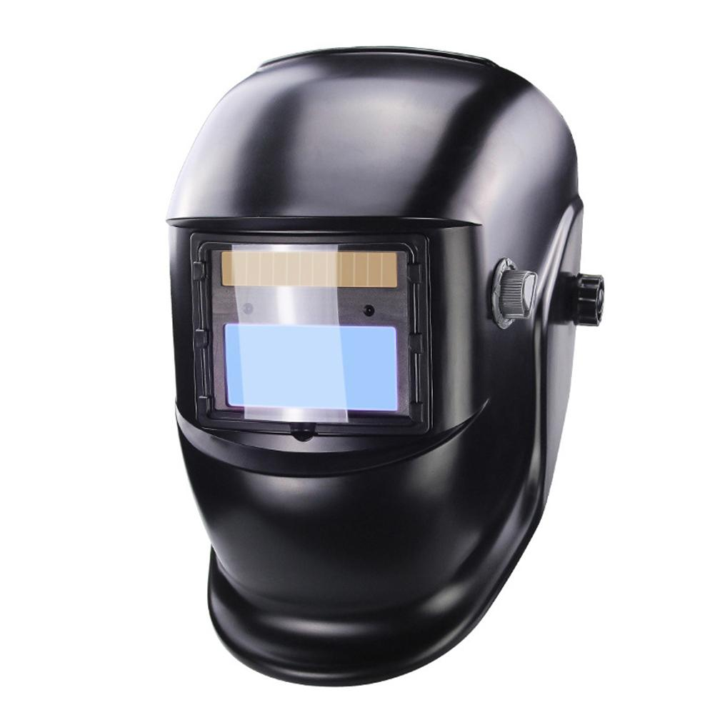 DIN9-DIN13 LCD Screen Solar Electric Welding Helmet Mask Automatic Darkening Welding Goggles Lens UV IR Filter