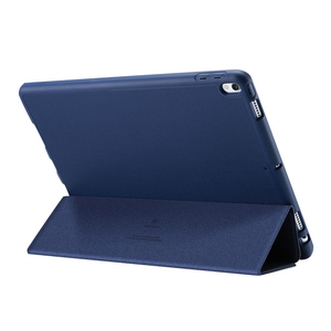 For IPad 9.7 Inch Tablet PC Case / Back Cover Case with Touch-Pen Anti-Lost Card Slot Design PU Protective Case