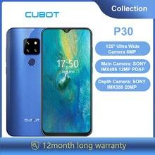 "Cubot P30 6,3 ""Waterdrop Bildschirm 2340x1080p Handy Helio P23 4GB + 64GB Android 9.0 Pie AI Hinten Triple Kameras Gesicht ID 4000mAh"