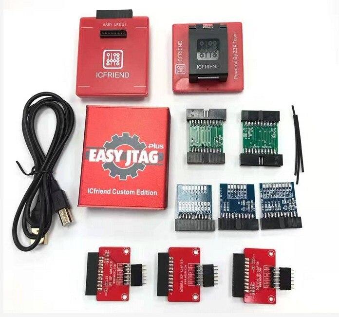 2020 New version Easy Jtag plus box Easy-Jtag plus box+EASY JTAG /UFI/MEDUSA ISP Adapters +UFS 2 IN 1 SOCKET(China)