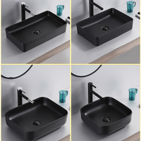 Brazil Overseas Warehouse Basin Ceramic Bathroom Sink White Above Counter Basin with Drain Pipe Shampoo Sinks