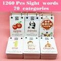 1260 단어 조기 학습 그림 카드 중국어 영어 플래시 카드 단어 카드 어린이 게임 어린이를위한 교육 장난감 몬테소리의