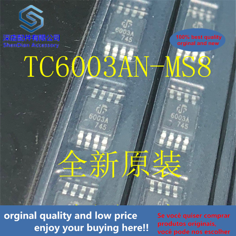 10pcs 100% Orginal And New TC6003AN-MS8 TC6003A 6003A MSOP8  Best Qualtiy