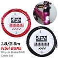 Рыбья кость дизайн 1 8 м 2 5 м дорожный горный велосипед тормозной шланговый кабель Универсальный сдвиг трубка тормозной магистрали MTB велоси...