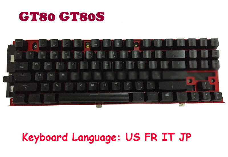 Mechanical-Keyboard V143422AK GT83VR Japanese French English for MSI Gt80/2qc-221cn/2qd/..