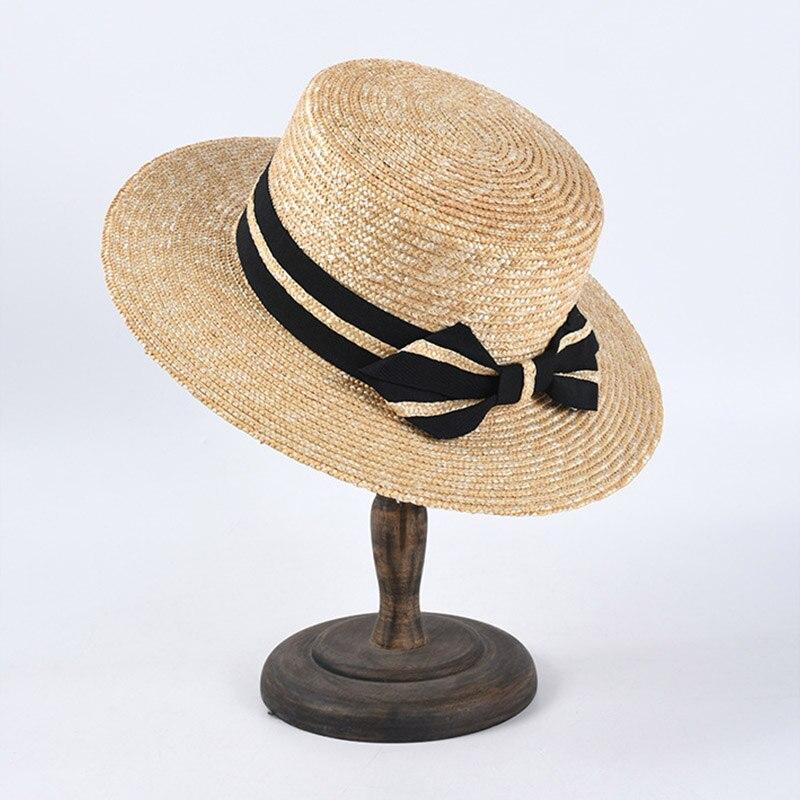 2020 New Summer Wide Brim Straw Hat Big Sun Hat For Women UV Protection Panama Beach Hat Ladies Bowknot Derby Hat Chapeau Femme
