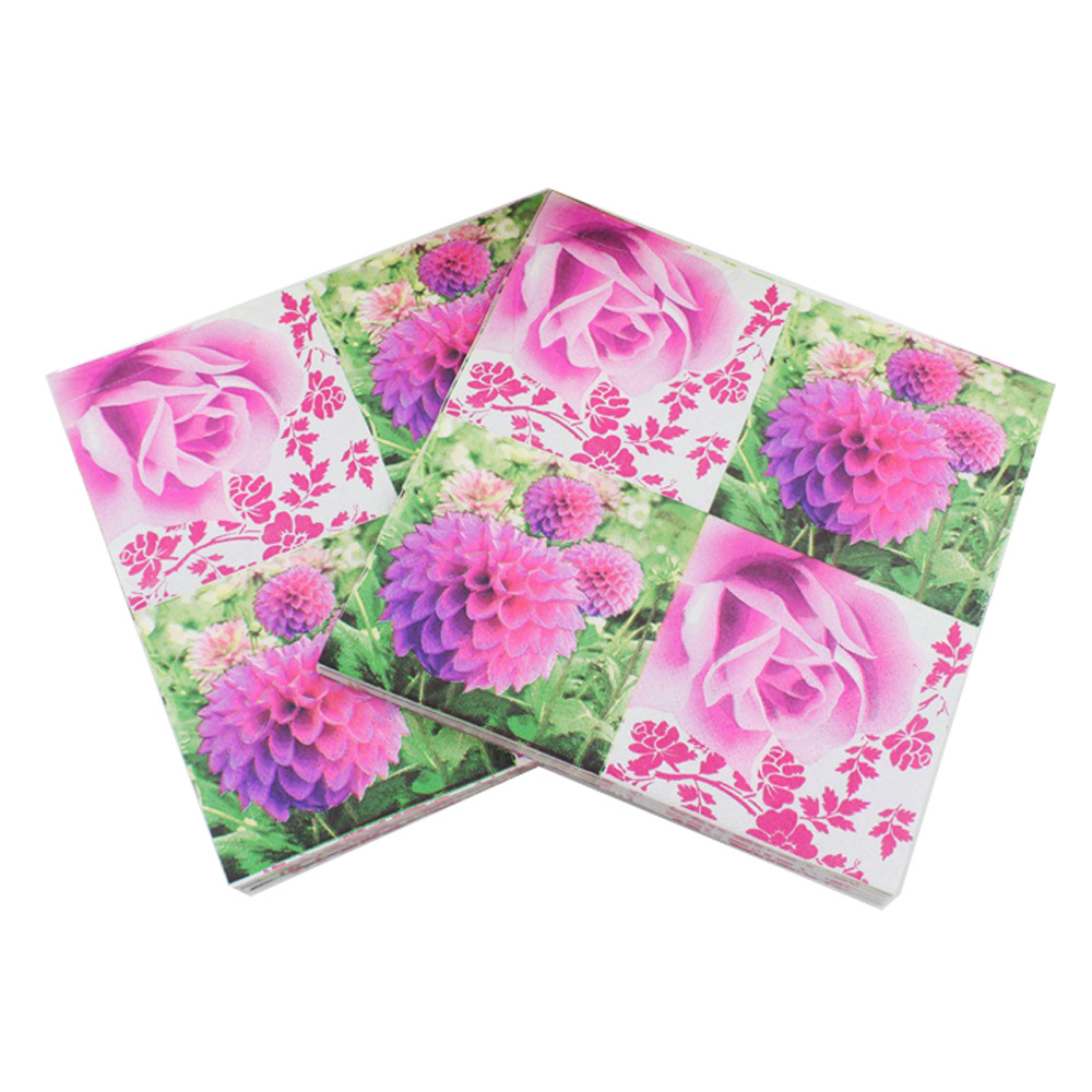 [Currently Available] New Products Listed Flower Napkin Color Printed Napkin RUF-46