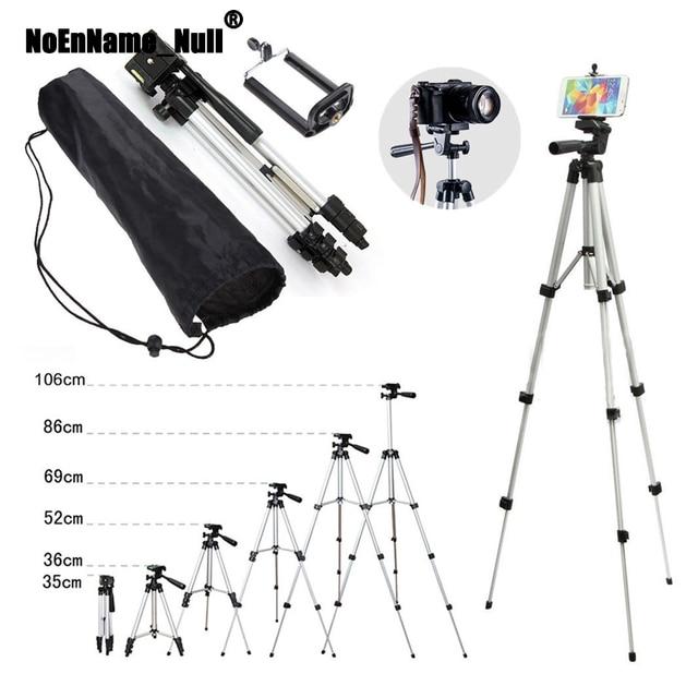 Câmera profissional tripé suporte de montagem + saco para iphone samsung celular para câmera digital tripés