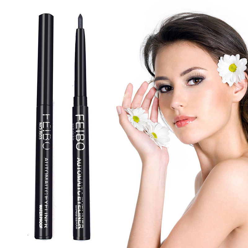 FEIBO black automatic eyeliner black eye liner magnetic eyeliner liquid eyeliner waterproof Eyebrow Enhancers Cosmetics TSLM1