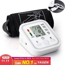 Ev sağlık dijital Lcd üst kol kan basıncı monitörü kalp yendi ölçer cihazı ölçme için tonometre otomatik