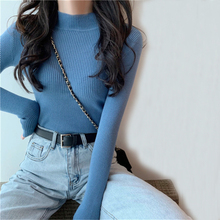Knitted Turtleneck Sweater Pullovers Korean-Style Winter Women Fashion Casual Slim Female