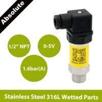 0 zu 5V drucksensor sender  1 6 bar 160kpa abs  günstiges wandler für flüssigkeit gas  12 zu 30 V  AISI 316L benetzt teile-in Drucksensoren aus Werkzeug bei