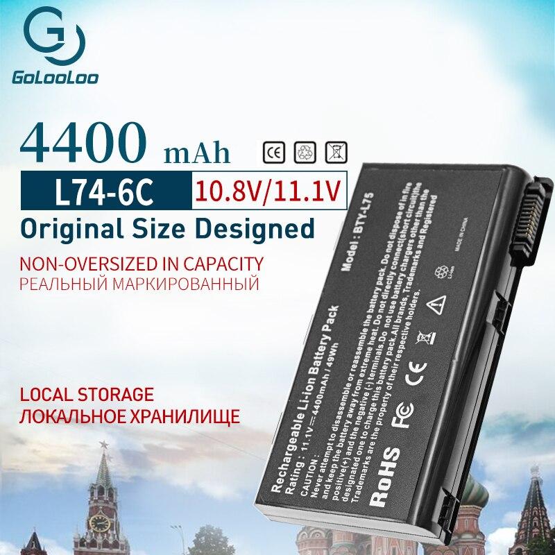 6 celular 4400mAh Da Bateria Do Portátil Para MSI BTY-L74 BTY-L75 A5000 A6000 A6203 A6205 A7200 CR600 CR610 CR610X CR620 CR630 CR700 CX600