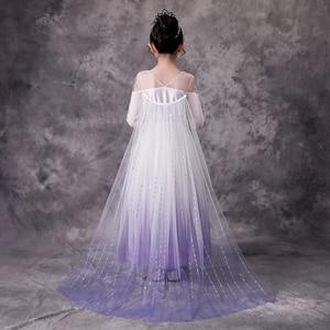 Image 4 - Kızın prenses dondurulmuş kar kraliçesi Elsa parti Cosplay kostüm