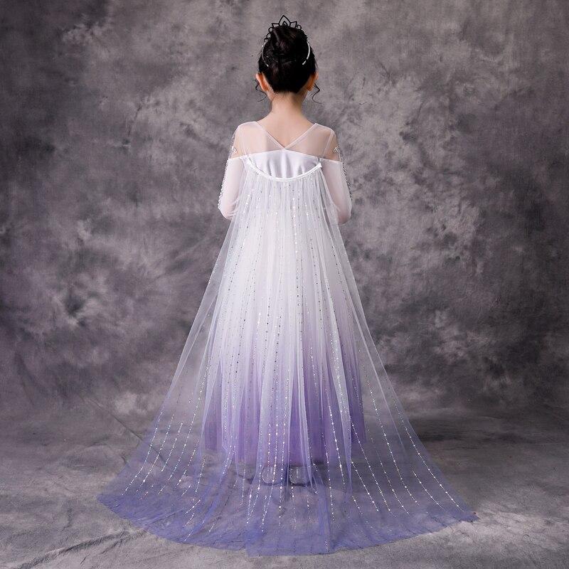Image 4 - Menina princesa congelado neve rainha elsa festa cosplay traje vestidoFantasias p/ meninas   -